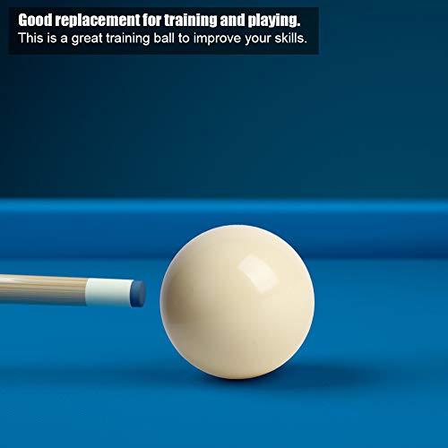 Keenso 2pcs 5.72CM Billardtisch Weiße Billardkugeln, Snooker Billardtisch Training Spot Cue Ball Standard