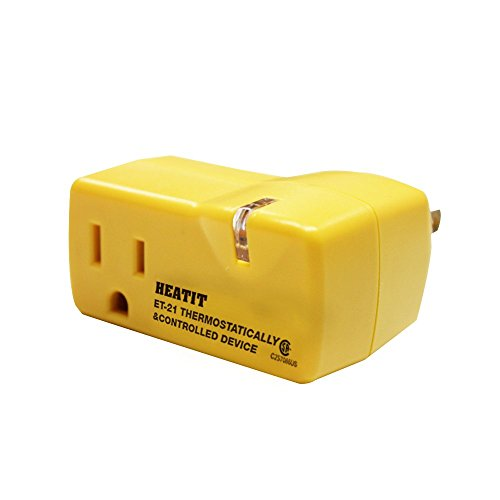 HEATIT ET-21 Freeze Thermostatically Controlled outlet On at 38F /Off at 50F