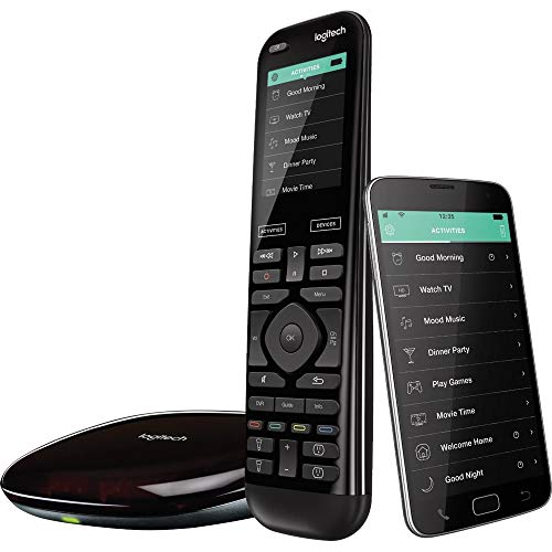 Logitech Harmony Elite Remote Control, Hub and App (Renewed)