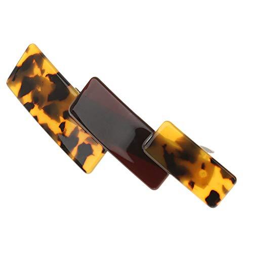 Mode Acrylique à Cheveux Accessoires Femmes Pince à Ressort Barette - Brun Noir Brun Noir
