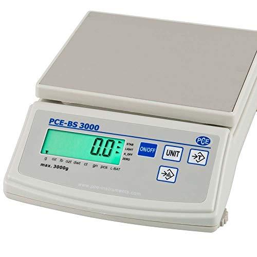 PCE Instruments PCE-BS 3000 Waage / Waagen / Analysenwaage / Feinwaage / hochgenaue Analysenwaage mit verschieden anwählbaren Wägeeinheiten