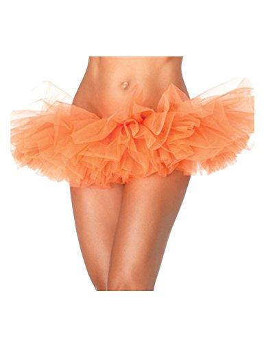 Legou Femme Lingerie Tutu Jupe Danse pour Ballet Orange XXL