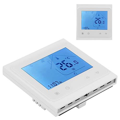 banapoy Termostato WiFi, Termostato Inteligente de Alta precisión, CA 95-240V Programable para Control de Temperatura Industria doméstica Alexa(White)