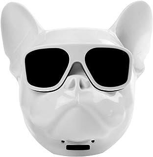 Qiao Nai Altavoz portatil Cabeza Perro Bulldog Frances inalambrico Bluetooth, Tarjeta SD, Pendrive,