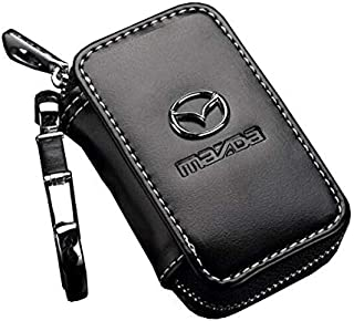 KEY CHAIN WALLET WITH MAZDA LOGO FOR KEY AND REMOTE - BLACK COLOR