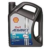 Shell Advance 4T Ula 10W-40 4L Aceite de motor de 4 tiempos totalmente Syn 6 unidades