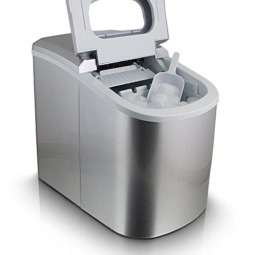 ms-point Eiswürfelmaschine, Eiswürfelbereiter, Icemaker in Silber