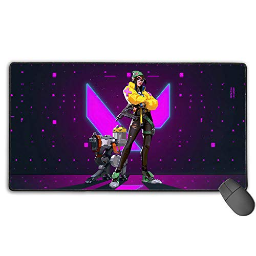 Valorant Game Killjoy Professional Gaming Mouse Pad Stitched Edges for Pc Computer Laptop 15.8X35.5 in(40Cm X 90Cm)
