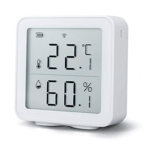 Tuya WiFi Temperature and Humidity Sensor Indoor Hygrometer Thermometer with LCD Display Support Alexa Google Assistant