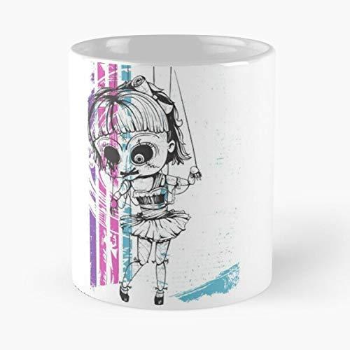 Emily Crazypasta Marionette Killer Dolls Bestseller Mode Geschenk Kaffeetasse schwarz, weiß, Farbe ändern 11 Unzen, 15 Unzen für alle