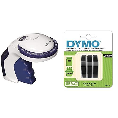 Dymo Omega Estampadora para Uso Doméstico + 3D Label Tapes Cintas para Impresoras De Etiquetas (Ampolla, 9 Mm, 3 M)