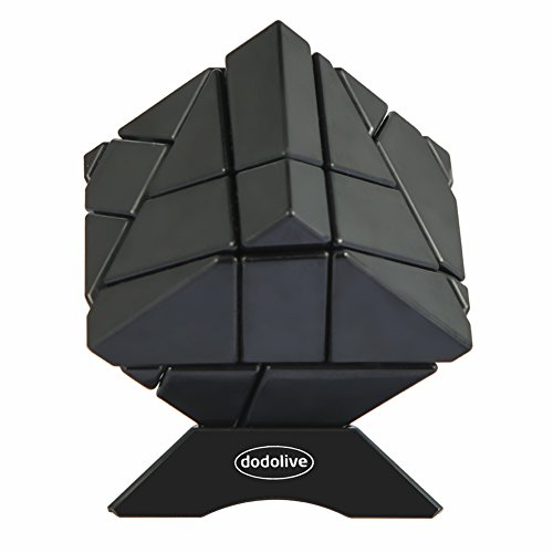 Dodolive 3X3X3 Abnormity Cube Ghost Cube Intelligence Stickerless Speed Puzzle Cube Ultra-Smooth Magic Cube,Black