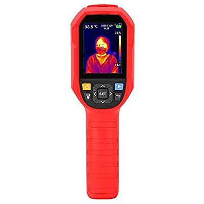 """Vividia Handheld Non-Contact Body Temperature Thermal Imaging Camera Fever Detection Screening 30? - 45? (86 F - 113 F) with Resolution 160x120 and 2.8"""" LCD Screen and High Temperature Alarm"""