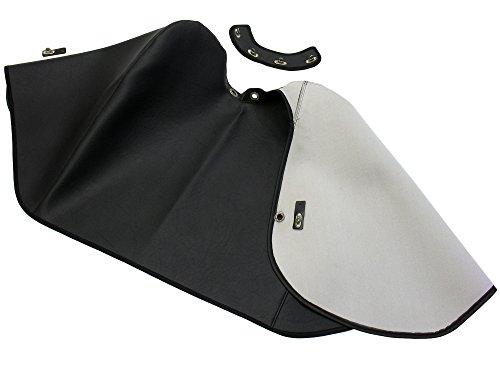 AKF Knieschutzdecke alte Ausführung + Halteband schwarz, gefüttert - für Simson KR51/1 Schwalbe, KR51/2 Schwalbe