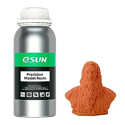 eSUN Red Wax-Like 3D Printer Rapid Resin, 405nm LCD UV-Curing Photopolymer Resin High Precision for Photon LCD 3D Printer Liquid 3D Resin, 500g Orange Red