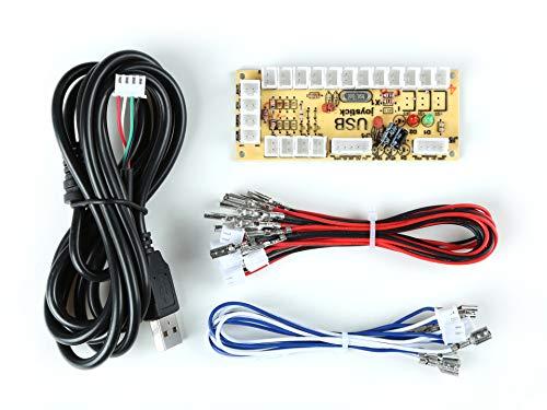 Owootecc Arcade Spieler DIY Teile Kit für PC, Raspberry Pi 3/2/1 Modell B mit RetroPie, Arcade MAME JAMMA Spielprojekt, 5 Pin Joystick