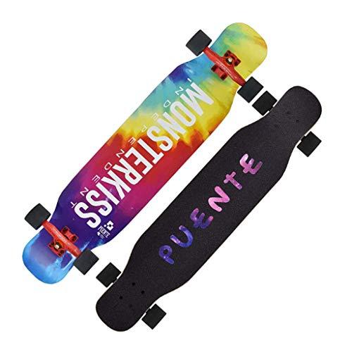 RVTYR Skateboards, Longboard Skateboard Vierrädrige Skateboard Brush Street Platte geeignet for Jungen und Mädchen Anfänger Tanz Vorstand Jugend Scooter Skateboard ninjago (Color : A)