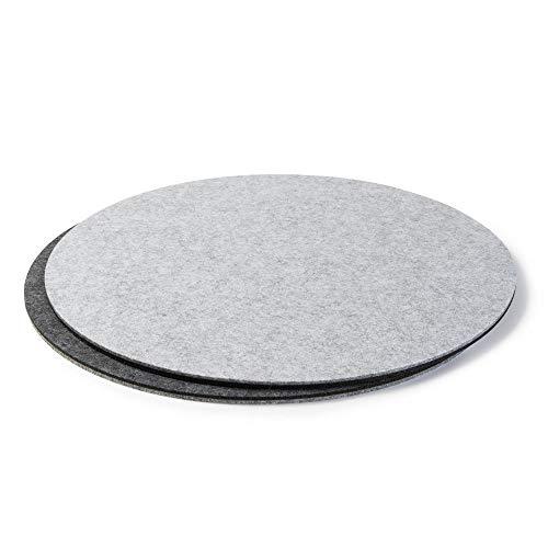 Posavasos de fieltro para vasos y tazas, color gris claro (colores y...