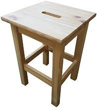 En taburete de madera de pino Cm 30X30X44 Hardware