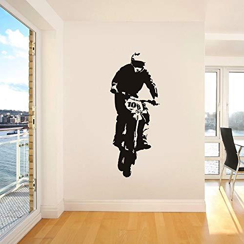 Racing Speed Sport Motorradfahrer Helm Spieler Stunt Show Wandaufkleber Vinyl Aufkleber Abnehmbarer Junge Schlafzimmer Home Decoration Wandbild Poster