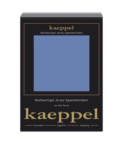 Kaeppel L-016753-22L1-U5KN Jersey Spannbettlaken 100 x 200 cm, stahlblau