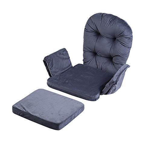 Cuscino per sedia, cuscino per sgabello, set di cuscini per sedia, cuscino per sedia in morbido velluto di cotone + set per cuscino per sgabello Fodera calda per home office Colore grigio
