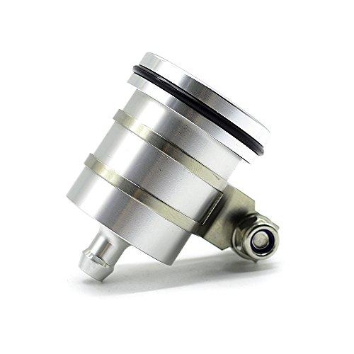 Universal Motorrad Bremsflüssigkeitsbehälter Öl Tasse für Duke 125 200 390 690 RC 125 200 390 YZF R1 R3 R6 R25 R125 FZ1 FZ6 FZ8 GSXR 600 750 1000 GSR 600 750 1000 (Silber)
