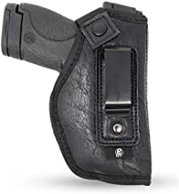 IWB Gun Holster by PH - Concealed Carry   Soft Interior   Fits M&P Shield 9mm.40.45 Auto/Glock 26 27 29 30 33 42 43, Ruger LC9, LC380   Taurus Slim, PT111, GX4   Springfield XD Series (Small) (Right)
