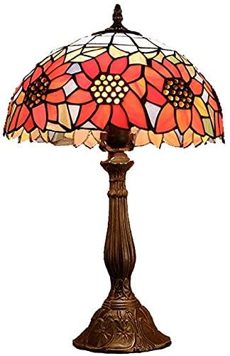 Ckssyao Lámpara de Mesa Lámpara de Mesa de Estilo de Campo Creativo, lámpara de vitrales de investigación, lámpara de Mesa Decorativa de café Bar, 30 * 50 cm