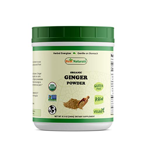 Best Naturals Certified Organic Ginger Powder 8.5 OZ (240 Gram), Non-GMO Project Verified & USDA Certified Organic