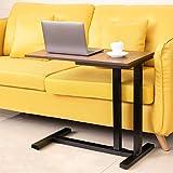 サイドテーブル AZAMIA パソコンデスク 幅70cm ソファサイドテーブル 木目調 耐荷重50kg 介護用ベッドテーブル 在宅勤務 ナイトテーブル 汚れの除去が簡単 組み立て簡単