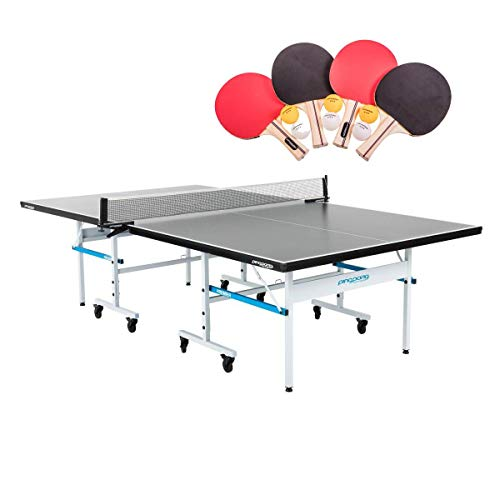Great Deal! Ping Pong Premier Indoor Sport Regulation Size Table Tennis with Paddles