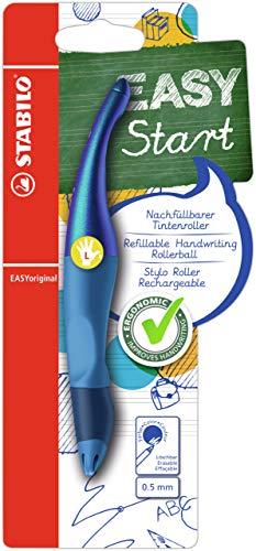 Penna Roller Ergonomica - STABILO EASYoriginal Holograph Edition per Mancini in Blu - Pack da 1 - Cartuccia Blu inclusa