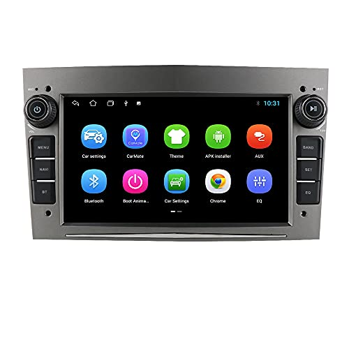 Android Autoradio Bluetooth per Opel Astra H Corsa C Zafira Corsa D Meriva Vivaro GPS Navi Bluetooth USB SD WiFi Ingresso telecamera posteriore Mirrorlink Controllo al volante DAB + DVR Grigio