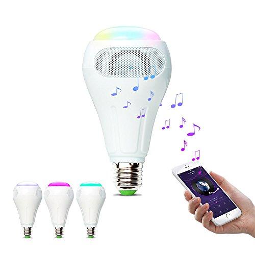 iHomma 12W WiFi + Bluetooth Musik Leuchtmittel E27 Smart LED Lichte RGBWW Birne mit Musik Lautsprecher Dimmbar Smartphon APP für Android und IOS