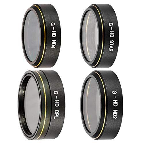 LWEITECH Los Kits de filtros 4 en 1 HD Drone Efecto de la Estrella + ND2 + ND4 + CPL Lentes for dji Phantom 4 Pro