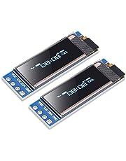 """ACEIRMC 2個 0.91"""" IIC I2C シリアルOLED液晶ディスプレイモジュール I2C SSD1306 I2C OLEDスクリーンドライバ用DC 128x32 3.3V?5V AVR PIC UNO MEGA (青)"""