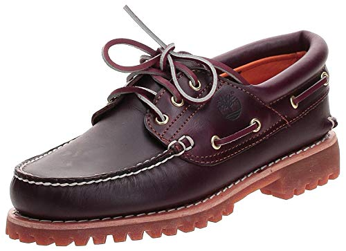 Timberland Men's 50009 Authentics 3 Eye Classic Lug, Chaussures Bateau Homme - Marron (Burgundy Pull Up) - 47.5