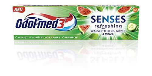 Odol-med 3 SENSES refreshing Wassermelone, Gurke & Minze Zahnpasta, 75 ml.