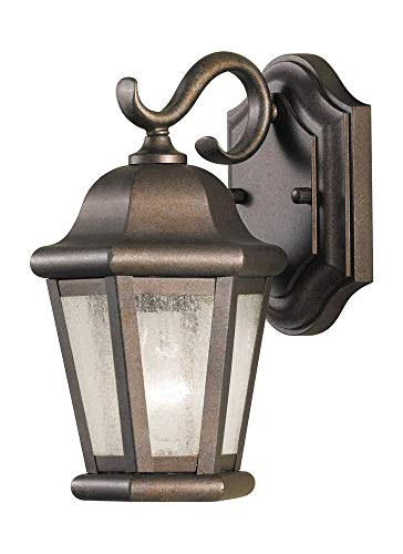 "Feiss OL5900CB Martinsville Outdoor Patio Lighting Wall Lantern, Bronze, 1-Light (6""W x 11""H) 60watts"