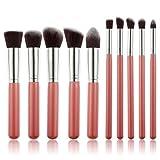 10 unids / lote maquillaje de maquillaje herramientas de cara de sombra de ojos Fundación maquillaje Pinceles Belleza Set Blush Kit profesional a estrenar Venta caliente