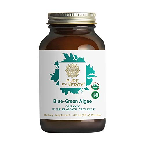 Pure Synergy Blue-Green Algae | 3.2 oz Powder | USDA Organic | Non-GMO | Vegan | Sourced from Upper Klamath Lake Oregon