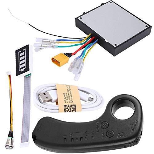 Elektro Skateboard ESC Kit, 430W 36V Dual Drive Elektro Longboard Ersatz Control Mainboard Brushless Motor mit Fernbedienung, LED-Anzeige, 4 verschiedene Geschwindigkeitsmodi für DIY Skateboard