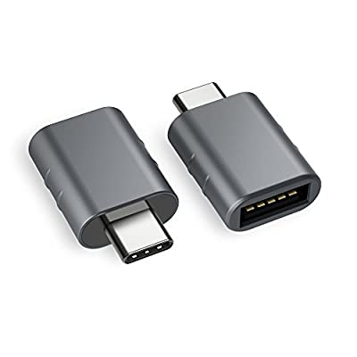 USB C to USB Adapter [2-Pack], USB C Male to USB A Female, Converting Thunderbolt 3 to USB 3.1/3.0/2.0 for MacBook Pro 2018/2017, Galaxy S9/S8/Tab S3, Dell XPS & All Type C Devices