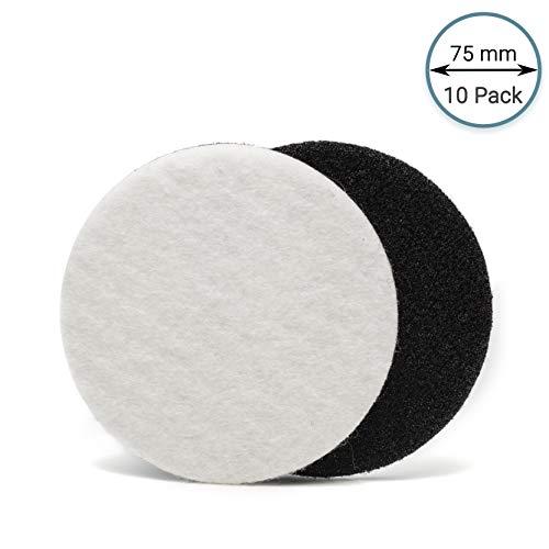 7,6cm (75mm) Velours Filz Polieren Pad (10Scheiben) Stück extra Grip Polieren für Glas, Kunststoff, Metall, Marmor