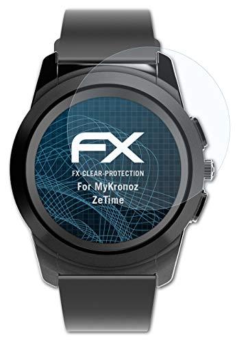 atFoliX Schutzfolie kompatibel mit MyKronoz ZeTime Folie, ultraklare FX Bildschirmschutzfolie (3X)
