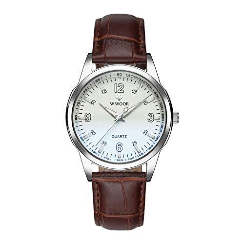 Reloj de Moda Impermeable con cronógrafo de Acero Inoxidable para Hombre -A