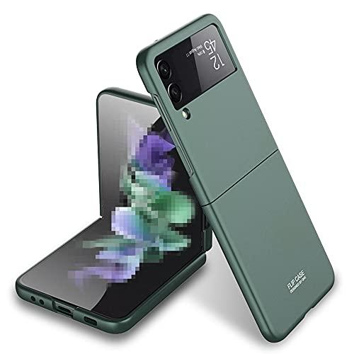 Galaxy Z Flip3 5G ケース SC-54B 背面ケース ハードケース 軽量 耐衝撃 薄 SCG12 背面カバー Galaxy Z Flip3 カバー ZFlip3-PC-20813 (グリーン)