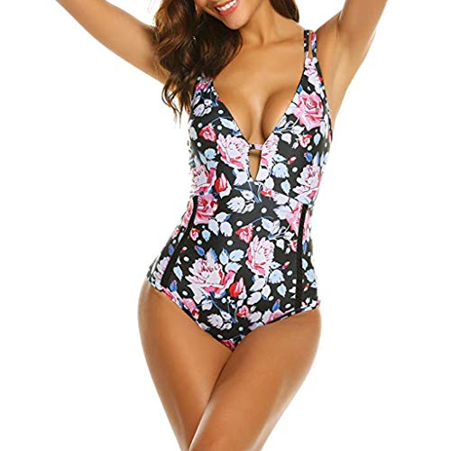 KaloryWee 2019 Damen Bikini Badeanzug Tankini Bauchweg Einteilige Badeanzüge Push up Zweiteilig Große Größen Sportlich Abnehmen Monokini Bademode