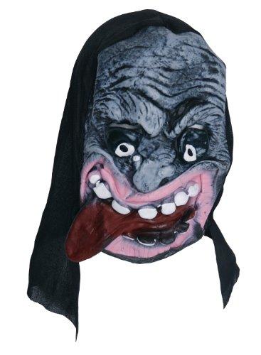 Zombie Masque en caoutchouc gris Big Tongue